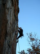 Rock Climbing Photo: Red Wall  Tim Fisher leads Axis(Bold As Love) (5.1...