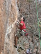 Rock Climbing Photo: Red Wall  Fashion Direct(5.12c) sport (pre-clipped...