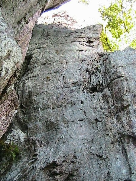 Trundlasaurus Wall<br> <br> Holy Guacamole (5.8)sport/trad<br> <br> Crowders Mountain State Park, North Carolina