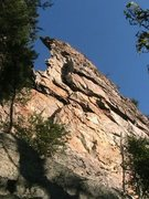 Rock Climbing Photo: Middle Finger Wall  Middle Finger (5.7) trad  Crow...