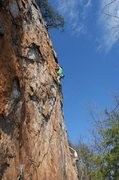 Rock Climbing Photo: Red Wall   Axis (Bold As Love) (5.11+) mixed  Crow...
