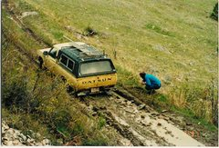 Rock Climbing Photo: The days of neither a power winch nor a hand winch...