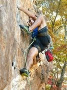 Rock Climbing Photo: Red Wall  Fashion (5.12b) sport  Crowders Mountain...
