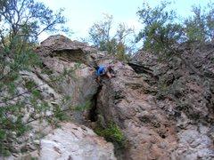 Rock Climbing Photo: Trundlasaurus Wall  Christmas Present(5.8) trad-on...