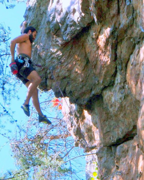 Plane Above Your Head Wall<br> <br> Unknown(Left of Plane Above)(5.10+) Sport<br> <br> Crowders Mountain State Park, North Carolina