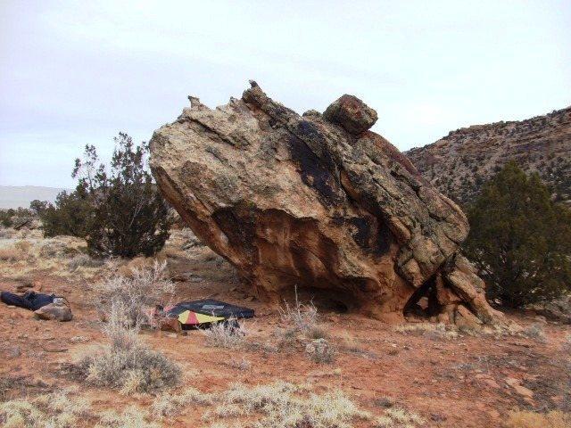 Rock Climbing Photo: Grenade Boulder's south-face.