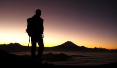 Rock Climbing Photo: Sunrise en route to Iliniza Sur