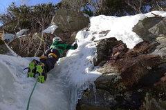 Rock Climbing Photo: Aidan Terravecchia's first day on Ice. Feb 2012.