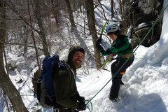 Rock Climbing Photo: Aidan and John Howard. Pinkham Notch. Feb 2012.