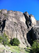Rock Climbing Photo: Somewhere else on the Mt.  3 pitches up, and one t...