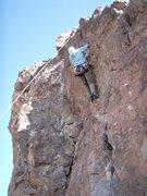 Rock Climbing Photo: Susan at the fun pull near the top of 'Pushin your...