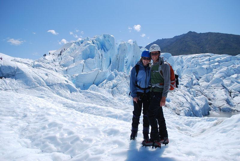 Honeymoon ice climbing @ Matanuska Glacier, AK