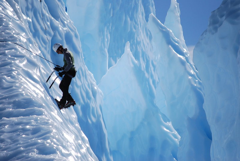 Rock Climbing Photo: Into the crevasse, Matanuska Glacier, AK