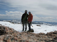 Rock Climbing Photo: top out after simul-climbing the north face of Lon...