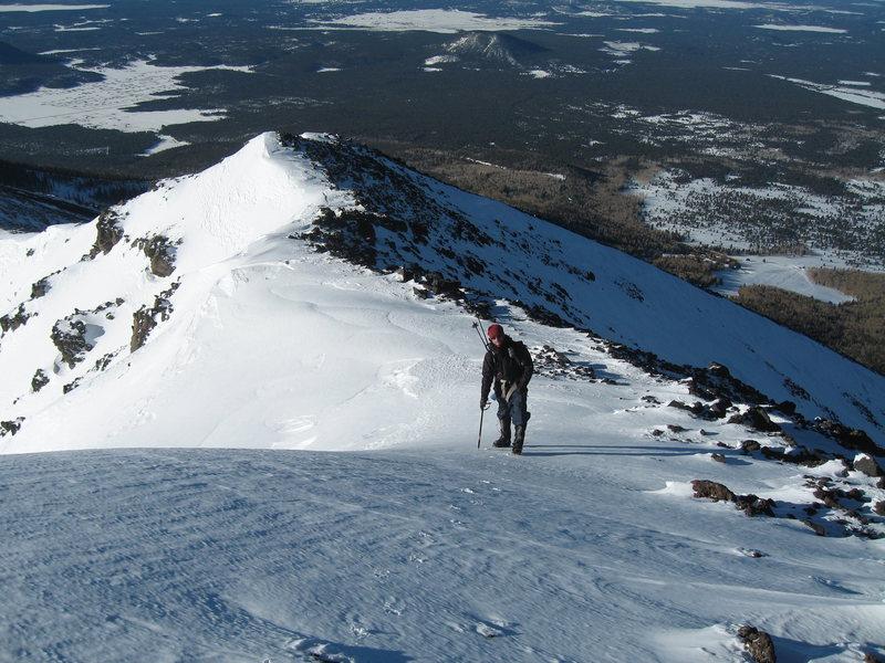 Rock Climbing Photo: coming up Humphreys, Flagstaff