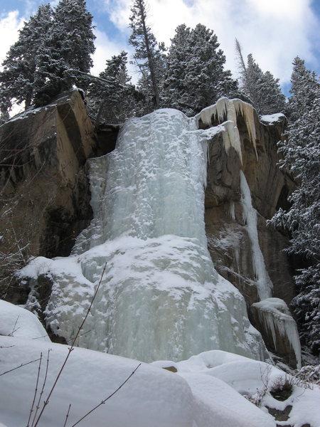 Rock Climbing Photo: Hidden Falls Main Flow, RMNP.