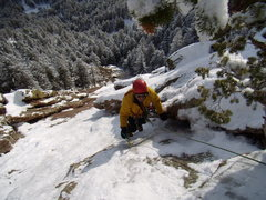 Rock Climbing Photo: Silk Road - First Flatiron.  With Mike W. and Mike...
