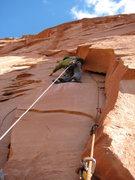 Rock Climbing Photo: Joel starting the second pitch