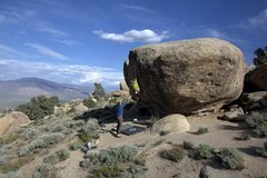 Rock Climbing Photo: Skye Dance - V6 Bishop, CA