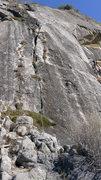 Rock Climbing Photo: Gary Carpenter leading p1