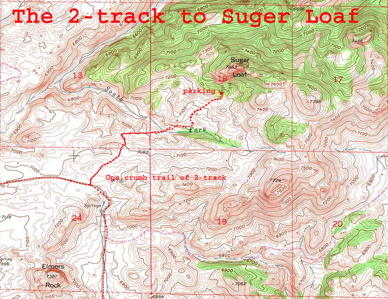 Rock Climbing Photo: The 2-track to Sugar Loaf