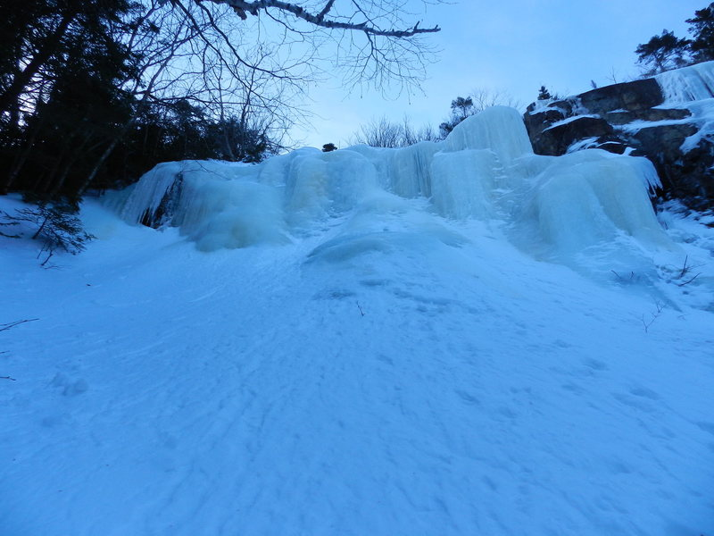 The first section of ice on Tally Ho