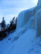 Rock Climbing Photo: Battle of the Bulge, first ice section...