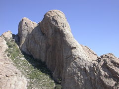 Rock Climbing Photo: The route follows the prominent left-diagonaling c...