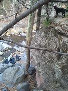 Rock Climbing Photo: Duke telling us to hurry