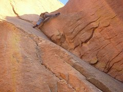 Rock Climbing Photo: Greg Kay works out final Moves