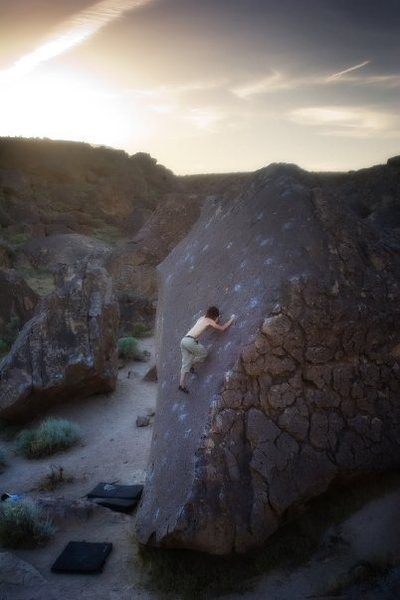 Rock Climbing Photo: Path - VB Great warm up slab or picturesque end of...