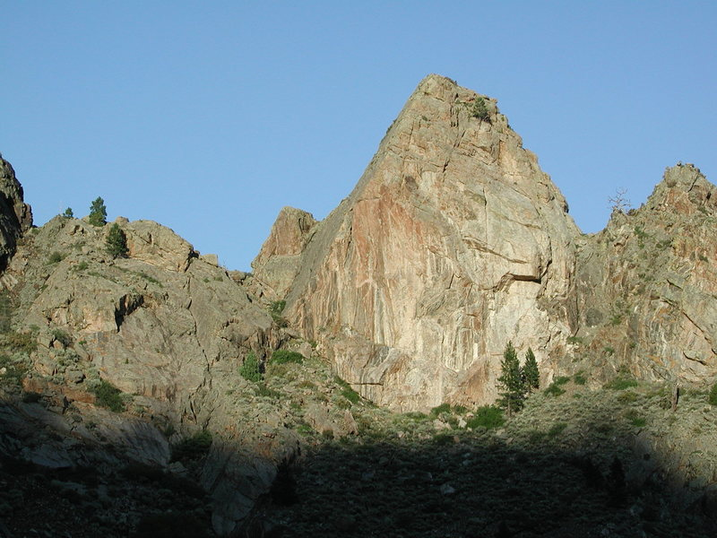 Rock Climbing Photo: The Cone is just below (east)the confluence of Ash...
