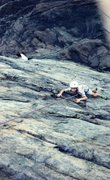 Rock Climbing Photo: My first climb ever. Hanging on! 1995.   Photo: Pa...