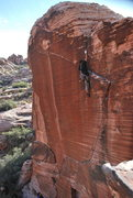 Rock Climbing Photo: Nice view of the whole pitch. Yin and Yang. 2011. ...