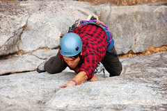 Rock Climbing Photo: Eric H in the crux of Grant's Crack (Link to the r...