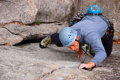 Rock Climbing Photo: Paul F starting up Grant's Crack (link to the rest...