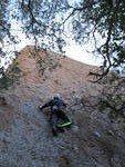 Rock Climbing Photo: David D. trying to Get a Grip.  Photos by Victoria...