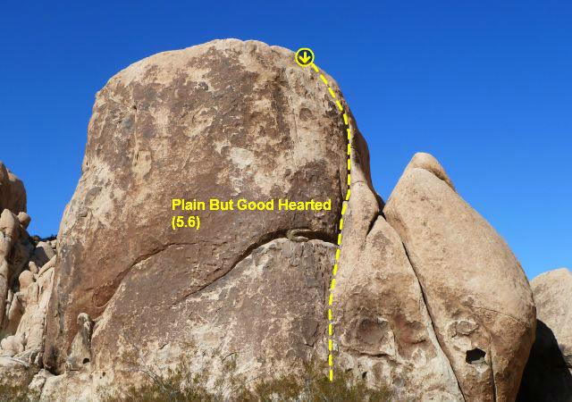 Plain But Good Hearted (5.6), Joshua Tree NP
