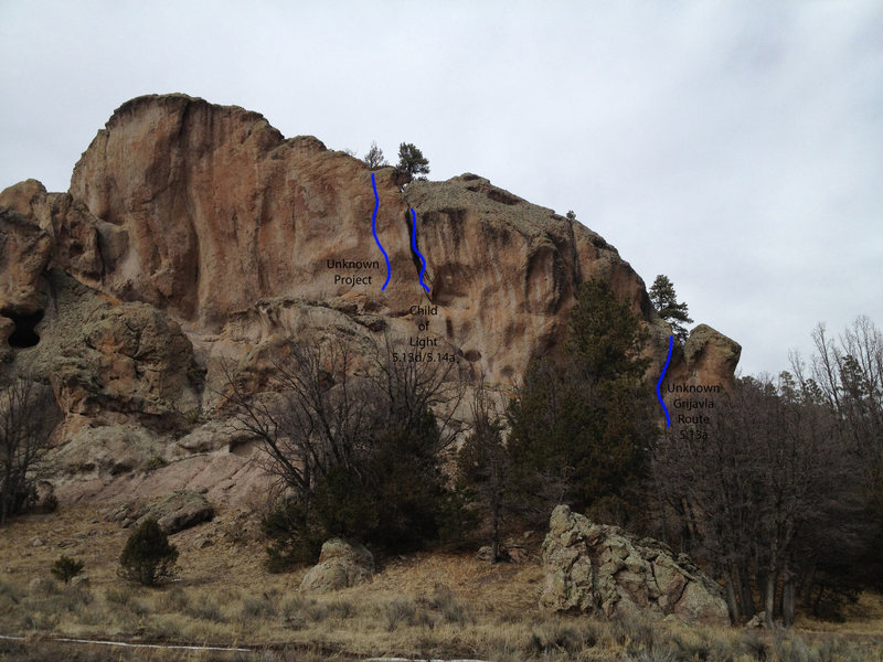 Rock Climbing Photo: Renissance Wall Topo