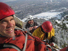 Rock Climbing Photo: Silk Road - Mike, Mike, and Alan. Photo by Mike Wa...