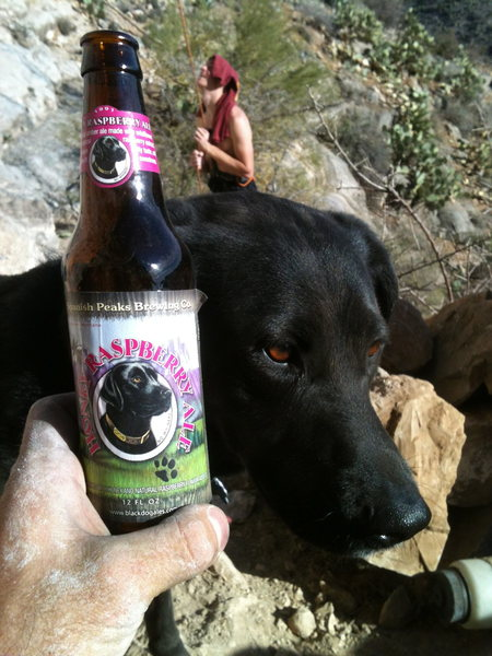 Rock Climbing Photo: Duke beer at the homestead