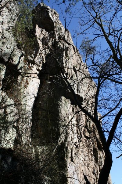 Davids Castle Backside<br> <br> Nuclear Cottage Cheese (5.9+) trad<br> <br> Crowders Mountain State Park, North Caroina