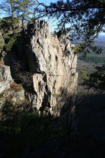 Rock Climbing Photo: Davids Castle Backside  Crowders Mountain State Pa...