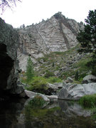 Rock Climbing Photo: The left side of the Gate Rocks of Lower Duck Cree...