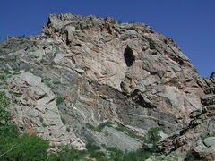Rock Climbing Photo: The massive outcrop just up stream from the mouth ...