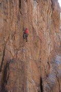 Rock Climbing Photo: EFR using his grey matter at the crux.
