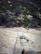 Rock Climbing Photo: To bump the grade a bit on this climb follow the s...