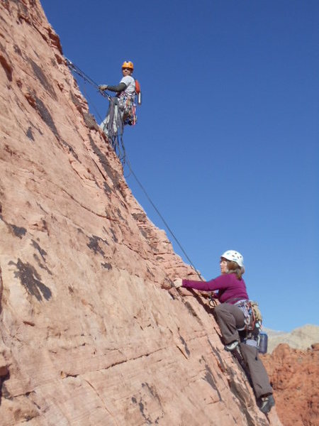 Rock Climbing Photo: Here comes Jenny!