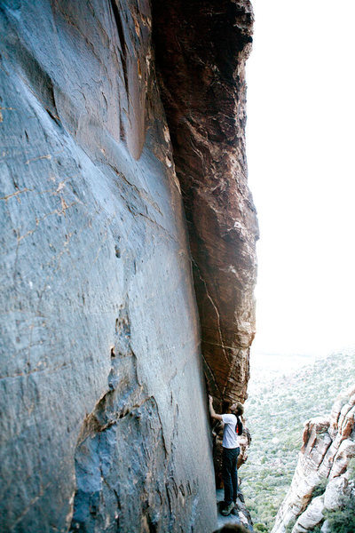 Rock Climbing Photo: The start of Brother Bill's Great Thrill.