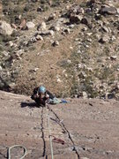 Rock Climbing Photo: Shiloh on the 5th pitch of Birdland.
